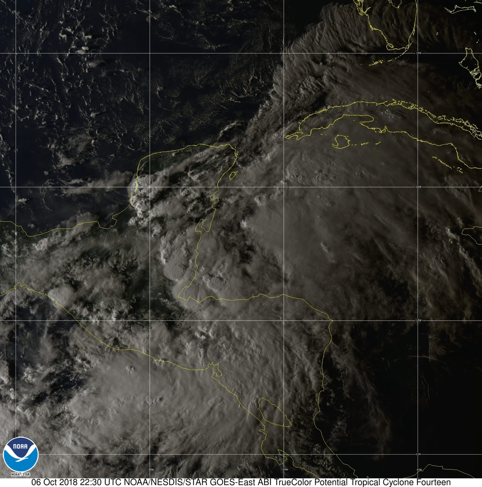 Hurricane Michael Satellite Image before it formed